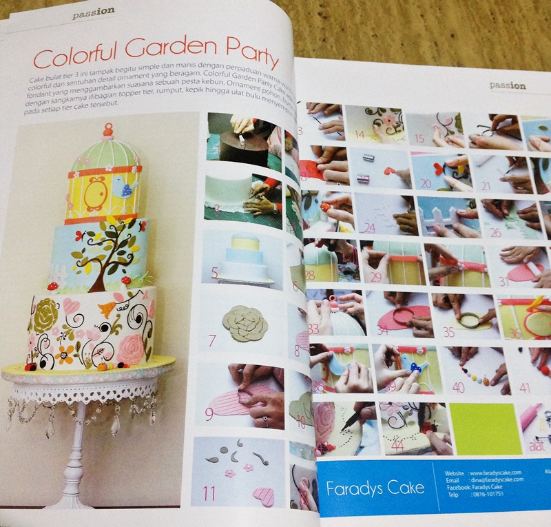 #cake decoration #magazine garden party cake