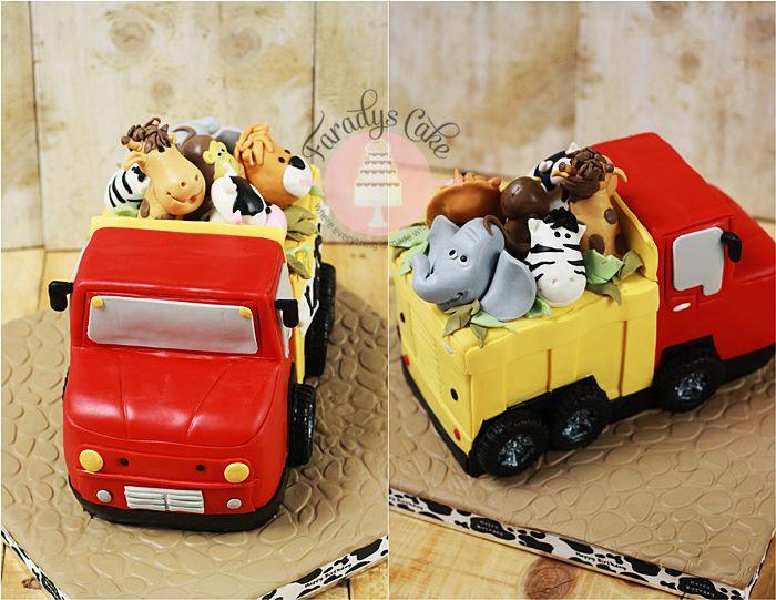 #Animal #Truck #Cake #Faradyscake
