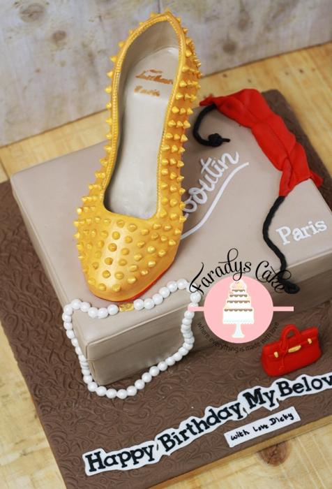 #Louboutin #Heel #Stiletto #Cake  #Faradyscake