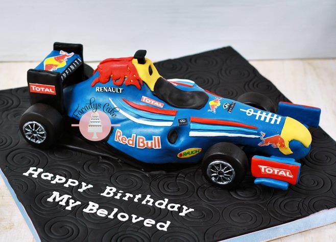 #racing #car #cake