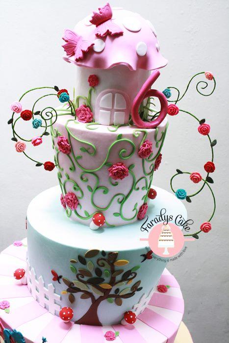 #fairy #cake #garden #cake